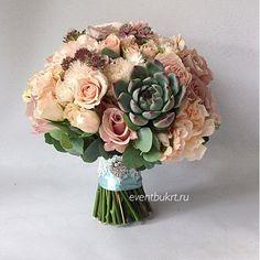 Букет невесты с суккулентом