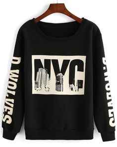 Black NYC Sweatshirt Size: Free Size Limited Stock #black #nyc #print #sweatshirt #fallfashion #winterishere #wintershopping #onlineshopping #shopsneakpeek #sneakpeekstore #sneakpeek