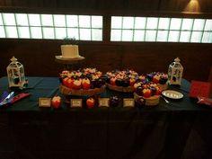 Dessert table #wedding #cupcakes #allyouneedislove at the Chandelier Ballroom