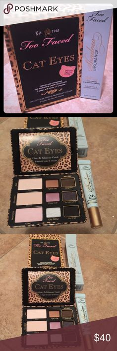 NWT••TOO FACED BUNDLE••AUTHENTIC Too Faced cat eyes and shadow insurance (FULL SIZE) bundle. Both new and UNUSED!! Too Faced Makeup Eyeshadow