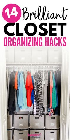 Don't miss these 14 brilliant closet organizing hacks if you want your home to be organized in the log run! These closet organizing ideas will help you keep your closet clean and organized all the time. Check them out here! Ikea Organization Hacks, Best Closet Organization, Scarf Organization, Closet Hacks, Kid Closet, Bedroom Organization, Organizing Ideas, Master Bedroom Closet, Kids Bedroom