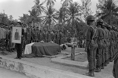 Former Indonesian President Sukarno is buried with full military honors in his birthplace, Blitar, East Java. Old Pictures, Old Photos, Vintage Photos, Military Honors, Dutch East Indies, Founding Fathers, Embedded Image Permalink, Presidents, How To Memorize Things