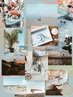 Mood board aesthetic Instagram puzzle feed beachy inspiration
