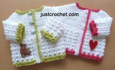 fjc131-Puff Stitch Cardigan Baby Crochet Pattern | Craftsy