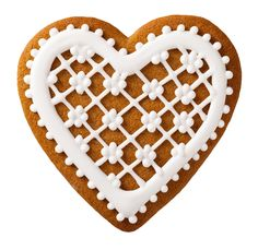 Buy Christmas Gingerbread by Bozena_Fulawka on PhotoDune. Christmas gingerbread isolated on white background, heart shape Spice Cookies, Sweet Cookies, Heart Cookies, Valentine Cookies, Biscuit Cookies, Sugar Cookies, Christmas Cookies, Christmas Gingerbread, Christmas Candy