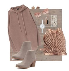 Cozy chic by maureak on Polyvore featuring polyvore, fashion, style, Sol Sana, nooki design, DKNY, Les Néréides, Cutler and Gross, MAC Cosmetics and clothing