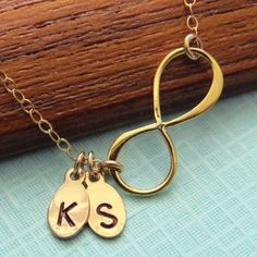 Bronze Infinity & Initials Necklace | Made on Hatch.co