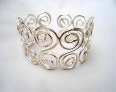 Wire Jewelry Wire Wrapped Bracelet Silver