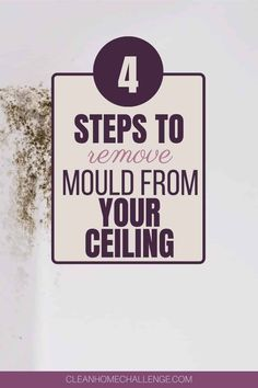 How To Remove Mould From Your Ceiling Diy Cleaning Products, Cleaning Hacks, Household Cleaners, Laundry In Bathroom, Enough Is Enough, Clean House, Kitchen Decor, Organize, Gadgets