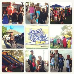 Giving away hundreds of backpacks at our #Back2SchoolBash Carnival! It's a blessing 2 b a blessing 2 our community.