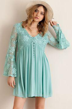 Mystic Mint Lace Dress