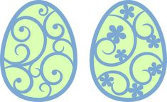 Flourish egg svg files for my ecutter.