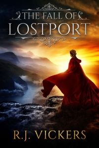 The Fall of Lostport designed by Milo from Deranged Doctor Design. | TP: Strong imagery, simple typography and calming colors. A very beautiful cover. ★