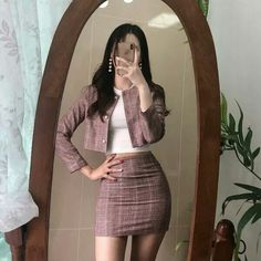 korean girl style🔥 ❤ 💖 - The world's most private search engine Korean Fashion Trends, Asian Fashion, Look Fashion, Girl Fashion, Fashion Outfits, Fashion Ideas, Fasion, Korea Fashion, Korean Fashion Fall