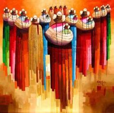 Wylly Rondon Peruvian Art, Aztec Warrior, Inca Tattoo, Culture Shock, Square Canvas, Abstract Painters, Arte Popular, Whimsical Art, Figure Painting