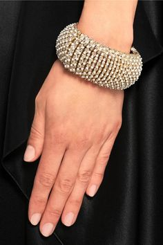 Givenchy|Bracelet in gold-tone and faux pearl