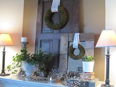 Thrifty Decorating: Spring Mantle Idea...