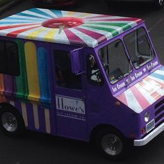 Now that is a paint job. The @howesicecreamco ice cream truck brightening up people's days.