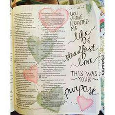 Job 10:12  You have granted me life.  Bible Journaling
