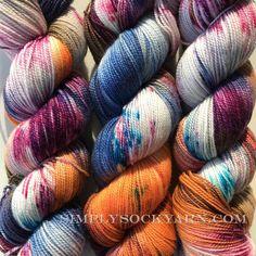 Simply Socks Yarn Company - KT Bespeckled Time Traveler, $26.00 (http://www.simplysockyarn.com/kt-bespeckled-time-traveler/)