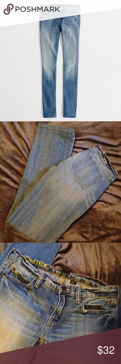 j crew jeans good condition. j crew matchstick jeans, size 26. only worn once. ⠀⠀ 👠 24 hour shipping (excluding Sunday's & holidays)  👗 smoke free home  👛 20% off ALL bundles  👒 every purchase is packaged with care! free gift for all $30+ purchases J. Crew Jeans
