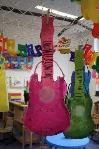 gitaar lampion guitar latern