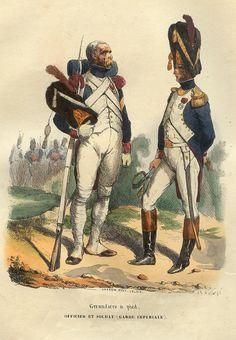 Granatiere e ufficiale della guardia imperiale francese