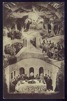 Last Supper Vintage Christian Postcard Viborg Cathedral