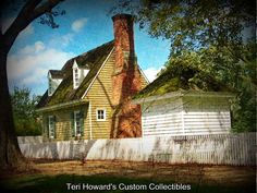 Antiqued version of this image of a house in historic Colonial Williamsburg Virginia by THCustomCollectibles, $5.00