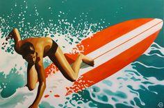 Emilie Arnoux - Elim - Artiste - Peintre - Painter  Surf#surfer#wave#sea#water#board#longboard#summer#sun#beach#lifestyle#hollidays#California#Trouville#Deauville#plage#Art#painting#peinture#vacances#week-end#Nautic#nautique