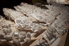sou fujimoto between nature and architecture; study models of the 'setonomori houses' image © designboom