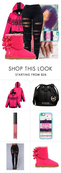 """Untitled #865"" by saditydej ❤ liked on Polyvore featuring MICHAEL Michael Kors, NARS Cosmetics, Casetify and UGG Australia"