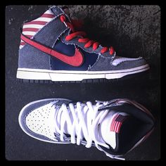 separation shoes dbc1b 86710 Nike Shoes  Nike Sb Dunk High Premium Born In The Usa  Color Blue
