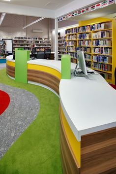 library circulation desk with slatted display on the front library desks pinterest the ojays desks and circulation - Library Circulation Desk Design