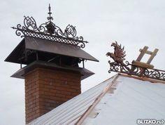 Дымник кованый ажурный Chimney Cap, Lightning Rod, Weather Vanes, Iron Art, Metals, Clock, Home Decor, Houses, Architecture