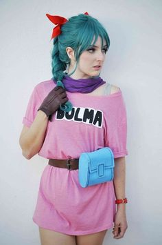 Spot On Bulma Cosplay From Dragon Ball - COSPLAY IS BAEEE!!! Tap the pin now to grab yourself some BAE Cosplay leggings and shirts! From super hero fitness leggings, super hero fitness shirts, and so much more that wil make you say YASSS!!!
