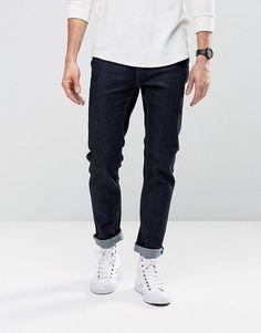 CHEAP MONDAY JEANS SONIC SLIM FIT RINSE BLUE - BLUE. #cheapmonday #cloth #