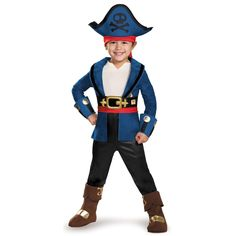 Captain Jake and the Never Land Pirates: Boys Deluxe Toddler Captain Jake Costume
