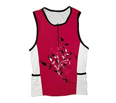 Cherry Red Blossom Triathlon Top for Men Size 3XL     You can find out 7e987646f