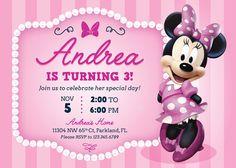 MINNIE MOUSE invitación Minnie Mouse imprimibles por RedHeadInvites Minnie Mouse Birthday Invitations, Minnie Birthday, Pink Invitations, Minnie Mouse Party, Mouse Parties, 3rd Birthday, Birthday Parties, Pink Minnie, Birthdays