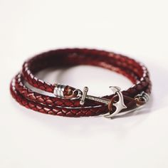 men or woman i think this leather anchor bracelet would be one essential piece