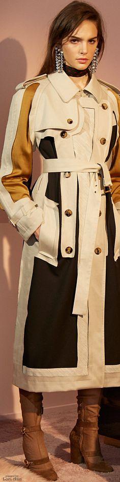 Lanvin Pre-Fall 2016 color block trench coat