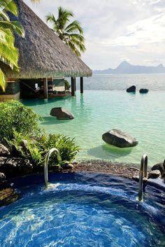 intercontinental Hôtel à Tahiti  #vacances