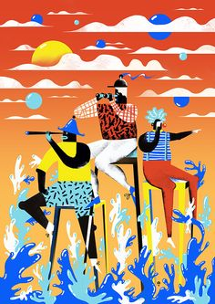 Personal Illustrations 2014 summer by Karol Banach, via Behance