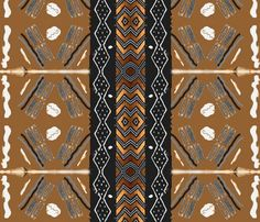 African American Fabrics, #Spoonflower, Mudclothfamily2_shop_preview
