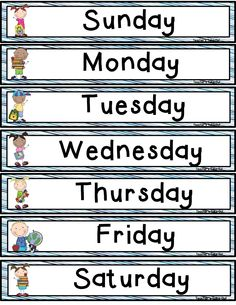 Days of the Week Freebie! Days of the Week Freebie! Beginning Of School, Primary School, English Lessons, Learn English, English Projects, Classroom Organization, Classroom Management, Ingles Kids, Calendar Time