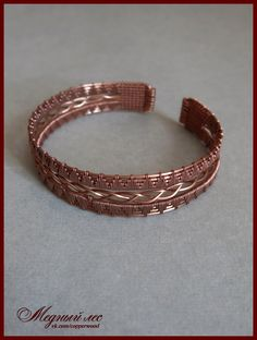 Медный Лес - авторские украшения - Wire wrap | VK Wire Jewelry Patterns, Wire Jewelry Designs, Wire Wrapped Bracelet, Metal Bracelets, Copper Jewelry, Beaded Jewelry, Jewellery, Bijoux Fil Aluminium, Viking Bracelet