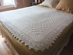 "Yarn Harlot ""Baby Blanket"" Truly the loveliest heirloom blanket I've ever seen. Fortunate family!"