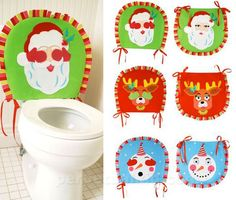 Christmas Toilet Seat Covers...oh yes!