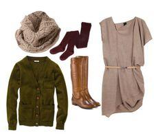 Short dress, tall boots, love it